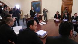 Ο Πρόεδρος της Δημοκρατίας κ. Νίκος Αναστασιάδης προεδρεύει της συνεδρίας του Υπουργικού Συμβουλίου με την συμμετοχή και των νέων μελών, Λευκωσία 20 Φεβρουαρίου 2018. ΚΥΠΕ, ΚΑΤΙΑ ΧΡΙΣΤΟΔΟΥΛΟΥ