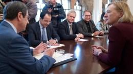 Ο Πρόεδρος της Δημοκρατίας κ. Νίκος Αναστασιάδης δέχεται την Ειδική Αντιπρόσωπο του ΓΓ του ΟΗΕ στην Κύπρο κα Ελίζαμπεθ Σπέχαρ, Λευκωσία 15 Φεβρουαρίου 2018. ΓΤΠ, Σ.ΙΩΑΝΝΙΔΗΣ, KYΠΕ