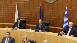 Ειδική συνεδρία της Βουλής των Αντιπροσώπων. Εικονίζονται ο πρόεδρος της Κύπρου Νίκος Αναστασιάδης και οι πρόεδροι των κοινοβουλίων Κύπρου και Ελλάδας Δημήτρης Συλλούρης και Νίκος Βούτσης, αντίστοιχα. FILE PHOTO.ΚΥΠΕ, ΚΑΤΙΑ ΧΡΙΣΤΟΔΟΥΛΟΥ