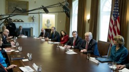 US President Donald J. Trump (2-R) attends a meeting on infrastructure with members of Congress, in the Cabinet Room of the White House in Washington, DC, USA. EPA, MICHAEL REYNOLDS
