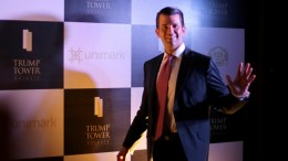 US president Donald J. Trump's eldest son, Donald Trump Jr. poses arrives for a meeting in Kolkata, India, 21 February 2018. US president Donald J. Trump's eldest son, Donald Trump Jr., is on an unofficial visit to India to promote his family's real estate projects. EPA, PIYAL ADHIKARY