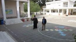 Ο Αρχιεπίσκοπος Χρυσόστομος πηγαίνει να ασκήσει το εκλογικό του δικαίωμα, Πάφος 4 Φεβρουαρίου 2018. ΚΥΠΕ, Κ. ΠΕΡΙΚΛΕΟΥΣ
