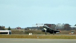One F-35 fighter arrives in an air base. FILE PHOTO, EPA, Ned Alley, NORWAY OUT