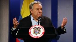 The General Secretary of the UN, Antonio Guterres, in Bogota, Colombia. EPA, MAURICIO DUENAS CASTANEDA