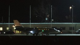The private jet with the released German-Turkish journalist Deniz Yuecel lands on the airfield of the airport in Tegel in Berlin, Germany, 16 February. Yuecel was in detention in Turkey over a year without prosecution. He was released from prison earlier on 16 February 2018. EPA, ALEXANDER BECHER