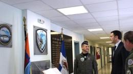 Ο Τομεάρχης Εθνικής Άμυνας της Νέας Δημοκρατίας Βασίλης Κικίλιας, επισκέφθηκε την 114 Πτέρυγα Μάχης και ενημερώθηκε για την αποστολή και το έργο της Μονάδας. FILE PHOTO, ΑΠΕ-ΜΠΕ, STR