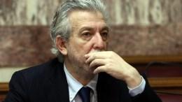 Ο υπουργός Δικαιοσύνης Σταύρος Κοντονής στη συνεδρίαση της Κοινοβουλευτικής Ομάδας του ΣΥΡΙΖΑ, στην αίθουσα της Γερουσίας στη Βουλή, Αθήνα, τη Δευτέρα 12 Φεβρουαρίου 2018. ΑΠΕ-ΜΠΕ, ΣΥΜΕΛΑ ΠΑΝΤΖΑΡΤΖΗ