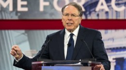 National Rifle Association (NRA) executive vice president and CEO Wayne LaPierre speaks at the 45th annual Conservative Political Action Conference (CPAC) at the Gaylord National Resort & Convention Center in National Harbor, Maryland, USA, 22 February 2018. CPAC kept LaPierre's speech off the official schedule, in the wake of the Stoneman Douglas High School shooting that killed 17 high school students. EPA, JIM LO SCALZO
