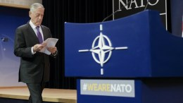 US Secretary for Defense James Norman 'Jim' Mattis arrives for a media conference at the end of the meeting of North Atlantic Treaty Organization (NATO) Defence Ministers at the NATO headquarters in Brussels, Belgium, 15 February 2018. EPA, OLIVIER HOSLET