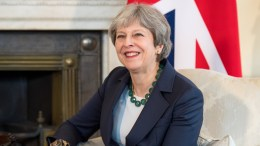 FILE PHOTO. British Prime Minister Theresa May at number 10 Downing Street in London, Britain. EPA, Chris J. Ratcliffe