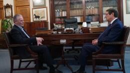 FILE PHOTO. Ο Νίκος Αναστασιάδης με τον Πρόεδρο της ΕΔΕΚ  Μαρίνο Σιζόπουλο. KYΠΕ, ΓΤΠ, Σ.ΙΩΑΝΝΙΔΗΣ