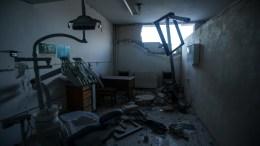 The destroyed hospital of Kafr Nabl, Idlib's countryside, Syria. EPA, YAHYA NEMAH