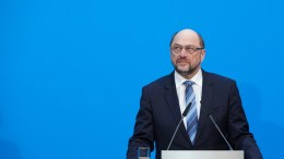 Leader of the Social Democratic Party (SPD) Martin Schulz during a press statement following coalition talks held at the CDU headquarters Konrad-Adenauer-Haus, in Berlin, Germany, 07 February 2018.The leaders of the Christian Democratic Union of Germany (CDU), the Christian Social Union (CSU) from Bavaria and Social Democratic Party (SPD) have been conducting coalition talks to form a new government, four months after the general election in September 2017. EPA, HAYOUNG JEON