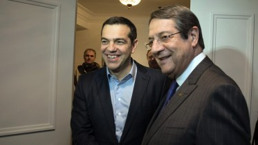 File Photo:  Ο πρωθυπουργός Αλέξης Τσίπρας (Α)  με τον Πρόεδρο της Κυπριακής Δημοκρατίας Νίκο Αναστασιάδη (Δ). ΑΠΕ-ΜΠΕ, ΓΡΑΦΕΙΟ ΤΥΠΟΥ ΠΡΩΘΥΠΟΥΡΓΟΥ, Andrea Bonetti