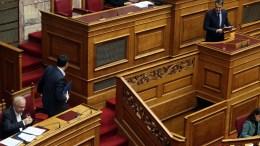 Υψηλοί αναμένονται οι τόνοι μεταξύ Αλέξη Τσίπρα και Κυριάκου Μητσοτάκη στη Βουλή για τη Novartis. File Photo ΑΠΕ-ΜΠΕ, Αλέξανδρος Μπελτές