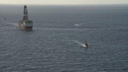 Εάν δεν υπάρξει σύντομα άρση του αποκλεισμού από τον τουρκικό στόλο είναι προφανές ότι η ΕΝΙ θα οδηγηθεί σε προσωρινή αποχώρηση. Φωτογραφία:  Τουρκικό Ναυτικό, www.dzkk.tsk.tr