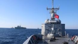 File Photo: Τουρκικό πολεμικό σκάφος σε άσκηση - Πηγή: Τουρκικό πολεμικό ναυτικό