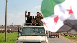 File Photo : Turkey-backed Free Syrian Army soldiers EPA, STR