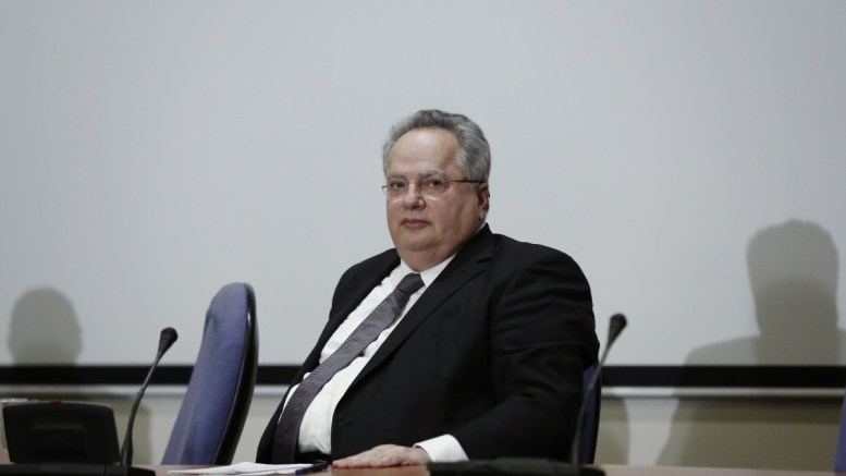 File Photo: Ο υπουργός Εξωτερικών Νίκος Κοτζιάς. ΑΠΕ-ΜΠΕ/ΓΙΑΝΝΗΣ ΚΟΛΕΣΙΔΗΣ