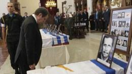 FILE PHOTO. Ο Πρόεδρος της Δημοκρατίας Νίκος Αναστασιάδης αποτίει φόρος τιμής κατά την διάρκεια της επίσημης τελετής παράδοσης 17 λειψάνων Ελλαδιτών πεσόντων. ΚΥΠΕ, ΚΑΤΙΑ ΧΡΙΣΤΟΔΟΥΛΟΥ