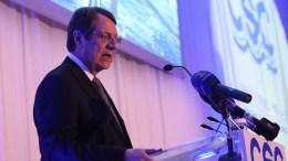 Ο Πρόεδρος της Δημοκρατίας κ. Νίκος Αναστασιάδης στο επίσημο δείπνο του Κυπριακού Ναυτιλιακού Επιμελητηρίου, στο Ξενοδοχείο Χίλτον Πάρκ, Λευκωσία. ΚΥΠΕ, ΓΤΠ - Χ. ΑΒΡΑΑΜΙΔΗ