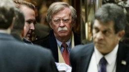 File Photo: Former US United Nations ambassador John Bolton (C) arrives for a meeting with US President-elect Donald Trump at Trump Tower in New York, New York, USA, 02 December 2016 (reissued 22 March 2018). According to a statement by the White House on 22 March 2018, John Bolton will replace H.R. McMaster as US National Security Advisor. EPA, JUSTIN LANE / POOL