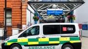 File Photo: An ambulance parked outside the main entrance to the Great Ormond Street Hospital. EPA, PETE MACLAINE