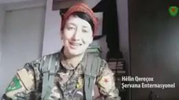 Η Άννα Κάμπελ μιλάει σε βίντεο της Κουρδικής Πολιτοφυλακής Πηγή: via Twitter