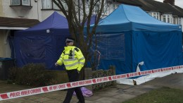 File Photo: A police officer outside the scene of a property where the body of Russian businessman Nikolai Glushkov was found in New Malden, South London, Britain, 16 March 2018. British counter terrorism police have been investigating the death of the former director of Aeroflot who was a close friend of oligarch Boris Berezovsky. EPA, WILL OLIVER
