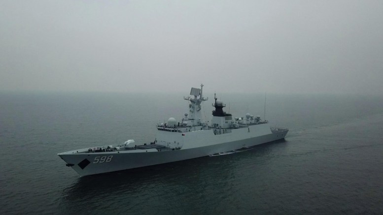File Photo: The guided-missile frigate Rizhao (Hull 598) attached to a destroyer flotilla with the navy under the PLA Northern Theater Command steams at an undisclosed sea area during an 8-day maritime training exercise from March 1 to 8, 2018. (eng.chinamil.com.cn,Photo by Zhu Yuhan and Zhang Yan, Ministry of National Defense, People's Republic of China