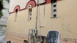Μπογιές έχουν ρίξει άγνωστοι στην εκκλησία του Αγίου Βασιλείου στην συμβολή των οδών Μπουμπουλίνας και Μετσόβου , Παρασκευή 16 Μαρτίου 2018. ΑΠΕ-ΜΠΕ/Παντελής Σαίτας