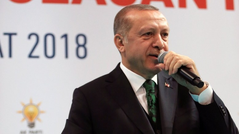 A handout photo made available by the Turkish Presidential Press Office shows Turkish President Recep Tayyip Erdogan (R). EPA, TURKISH PRESIDENTAL PRESS OFFICE, HANDOUT HANDOUT EDITORIAL USE ONLY, NO SALES