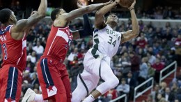 File Photo: Milwaukee Bucks forward Giannis Antetokounmpo.EPA,MICHAEL REYNOLDS