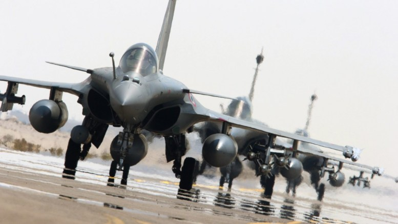 File Photo: Rafale fighter jets of the French army on the tarmac of a base in The Gulf EPA, ECPAD