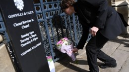 File Photo: Flowers are laid as a tribute to Stephen Hawking at Gonville and Caius College in Cambridge, Britain, 14 March 2018. Renowned British physicist Stephen Hawking has died on early morning of 14 March 2018 at the age of 76, his family announced. EPA, NEIL HALL