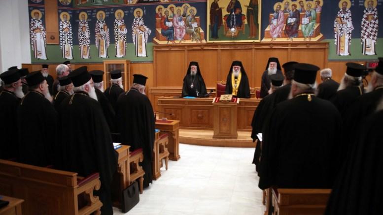 File Photo: O Αρχιεπίσκοπος Ιερώνυμος (K) στη Ιερά Σύνοδο. ΑΠΕ – ΜΠΕ, Αλέξανδρος Μπελτές