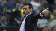 CSKA Moscow's head coach Dimitris Itoudis reacts during the Euroleague basketball match between Fenerbahce and CSKA Moscow in Istanbul, Turkey, 16 March 2018. EPA, TOLGA BOZOGLU