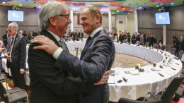 File Photo: EU commission President Jean-Claude Juncker and European Council President Donald Tusk during informal European Heads of States or Governments summit on the Sahel in Brussels, Belgium. EPA, OLIVIER HOSLET