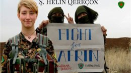 Η Άννα Κάμπελ έφερε το ψευδώνυμο Ş. Hêlîn Qereçox  Φωτογραφία via Twitter, @DefenseUnitsYPJ