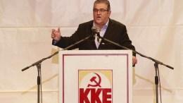 File Photo: Ο ΓΓ του ΚΚΕ Δημήτρης Κουτσούμπας μιλάει κατά τη διάρκεια της ομιλίας του στην συγκέντρωση διαμαρτυρίας του ΚΚΕ. ΑΠΕ ΜΠΕ, PIXEL