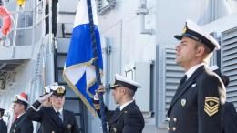 """FILE PHOTO.  Παρουσία του Προέδρου Αναστασιάδη, πραγματοποιήθηκε, στη ναυτική βάση """"Ευάγγελος Φλωράκης"""", η τελετή ένταξης του πρώτου πλοίου ανοικτής θαλάσσης της Εθνικής Φρουράς. Σ.ΚΟΝΙΩΤΗΣ - ΚΥΠΕ"""
