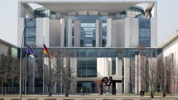 View of the Chancellery in Berlin, Germany, 04 March 2018. As announced on 04 March, about 66 per cent of some 363,000 valid members votes of the Social Democratic Party (SPD) agreed on the coalition with the CDU and CSU. This coalition agreement allows the formation of a new government in the following days. EPA, FELIPE TRUEBA