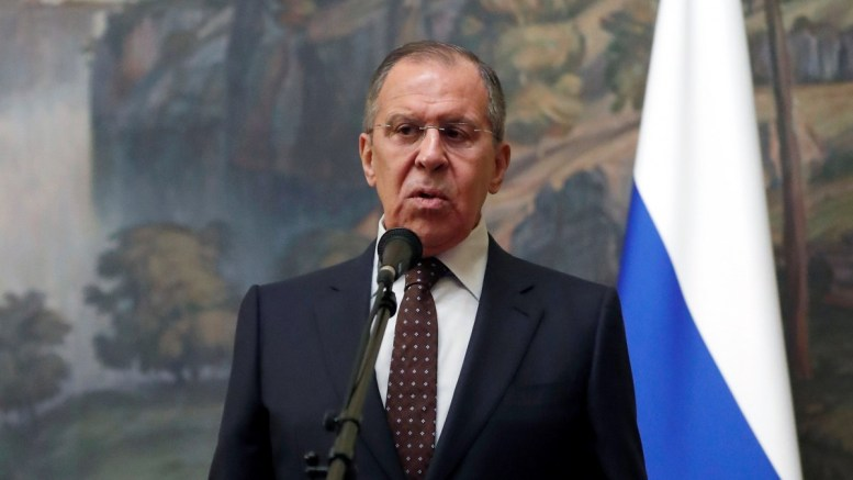 Russian Foreign Minister Sergei Lavrov makes a statement on development of British investigation into possible poisoning of former Russian spy Sergei Skripal, in Moscow, Russia, 13 March 2018. EPA, SERGEI CHIRIKOV