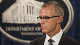 File Photo: former Deputy Director of the FBI Andrew McCabe was fired by Attorney General Jeff Sessions, two days before his 50th birthday, after which he would have been able to retire from the FBI with a full pension EPA, JIM LO SCALZO