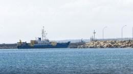 File Photo: Tο δεύτερο ερευνητικό σκάφος της Exxon Mobil, Med Surveyor.  ΚΥΠΕ, ΣΤ. ΚΟΝΙΩΤΗ