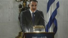 Ο πρόεδρος της Νέας Δημοκρατίας, Κυριάκος Μητσοτάκης.  21 Μαρτίου 2018.  ΑΠΕ ΜΠΕ/ΑΛΕΞΑΝΔΡΟΣ ΒΛΑΧΟΣ