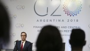 US Treasury Secretary Steven Mnuchin attends the closing press conference of the meeting of the Ministers of Economy and the Presidents of the central banks of the G20 countries in the Exhibition and Convention Center of Buenos Aires, Argentina, 20 March 2018. EPA, David Fernandez