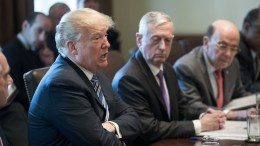 FILE PHOTO, US President Donald J. Trump (L) speaks beside US Secretary of Defense Jim Mattis (C) and US Commerce Secretary Wilbur Ross (R) during a meeting with members of his Cabinet, in the Cabinet Room of the White House in Washington, DC, USA, 08 March 2018. EPA, MICHAEL REYNOLDS , POOL