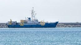File Photo: Από το λιμάνι Λεμεσού αναχώρησε το δεύτερο ερευνητικό σκάφος της Exxon Mobil, Med Surveyor. Φωτογραφία ΚΥΠΕ, Στ. Κονιώτη