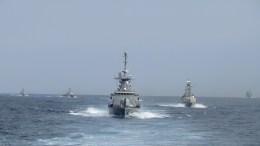 """Στιγμιότυπο από τις ασκήσεις του ΠΝ """"Αστραπή """" και """"Ορμή""""  Φωτογραφία Γενικό Επιτελείο Ναυτικού."""